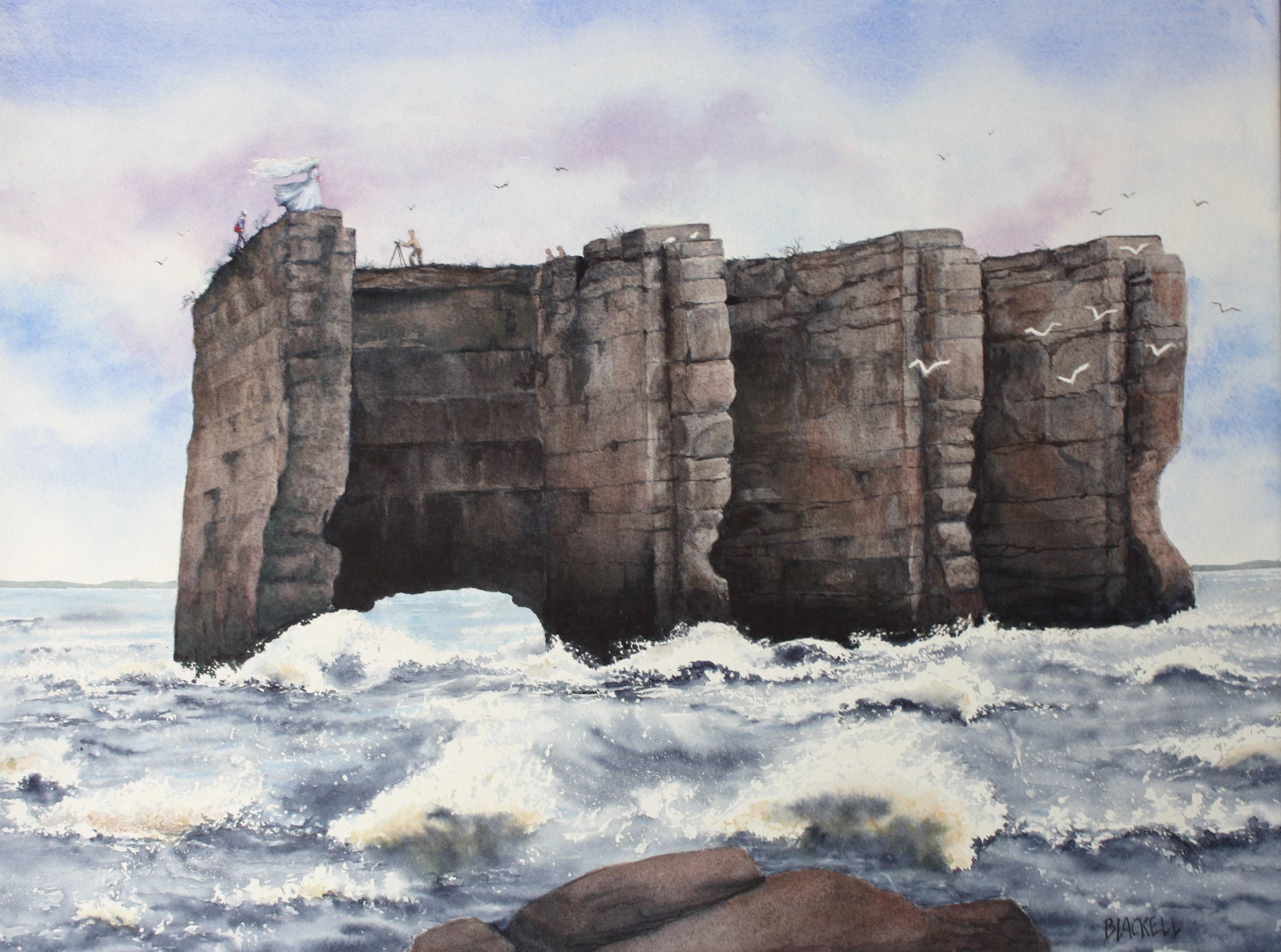 """PHOTO SHOOT/the Deschenes Rapids series/Watercolour/size 18"""" x 24"""""""