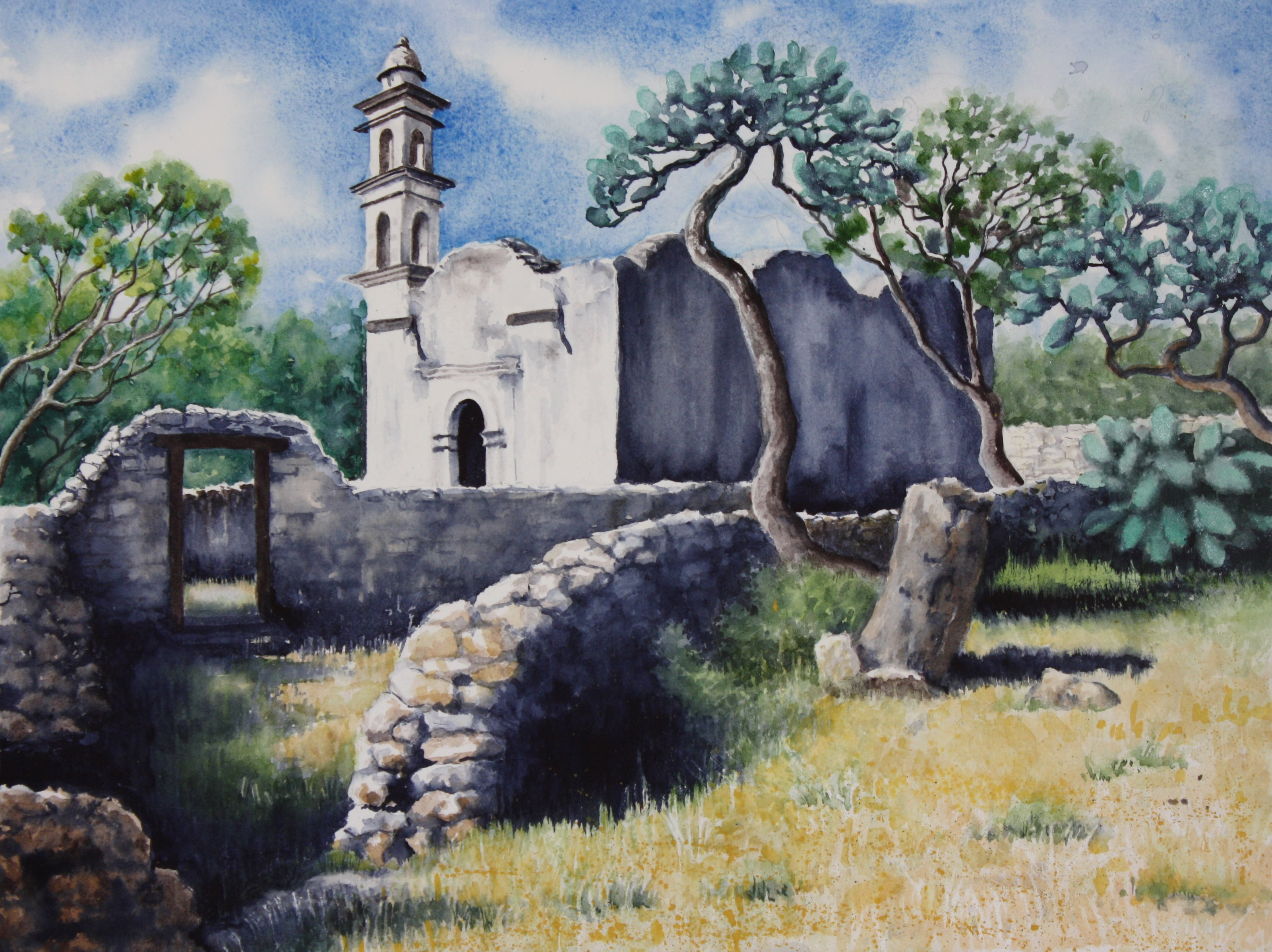 "OLD CHURCH/Mexico series/size 12"" x16"""